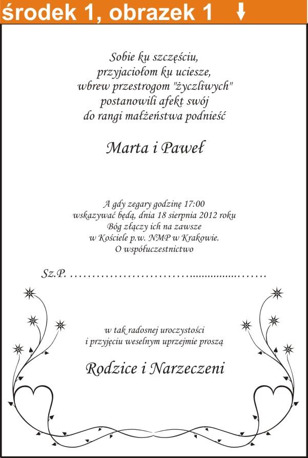 Zaproszenia ślubne Rulon Zaproszenie Rulony ślub